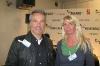 mit Hannes Jaennicke vor der Pressewand